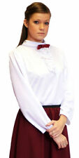 Victorian/Edwardian/STEAMPUNK GOVERNESS/NANNY WHITE BLOUSE/All Ages/Sizes
