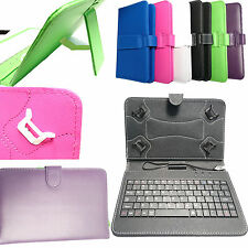 "Teclado 7"" 8"" 8.3"" Piel Artificial Soporte Funda para 8'' Android Tablet PC"