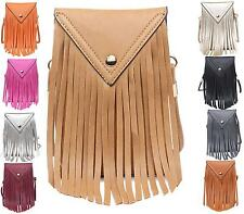 Ladies Holiday Small Tassel Envelope Pouch Bag Evening Fashion Shoulder bag