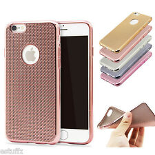 ✔ Apple iPhone 5/5s/6/6s/6 plus LUXURY ELECTROPLATING GRID Soft Back Cover Case✔