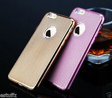 ✔LUXURY ELECTROPLATING GRID SOFT SILICONE BACK CASE COVER FOR APPLE iPHONE 6 6S✔