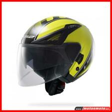 Ls2 OF586 Casco Moto Jet Bishop OF586 Atom Nero Giallo Fluo
