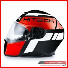 Casco Moto Integrale Fibra Sport Touring Blauer Force One 800 Nero Rosso Opaco