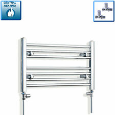 600mm Wide 400mm High Designer Chrome Heated Towel Rail Radiator Bathroom Rad