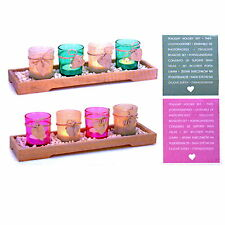2 Variations Tealight Holder Wooden Tray Set Tealight Candle Holder Deco Shabby
