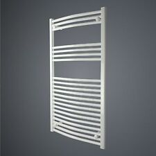 White Heated Towel Rail Radiator 1100x600mm FLAT Bathroom Rad Central Heating @@