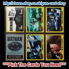 TOPPS - BATMAN CARDS 1989 2ND SERIES (G) *PLEASE SELECT CARDS*