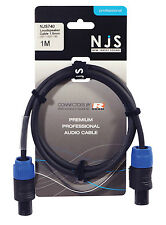 NJS Loudspeaker Cable with 2 x 1.5mm REAN Plugs - Multiple Lengths Available