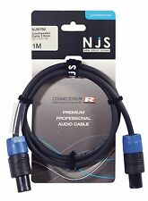 NJS Loudspeaker Cable with 2 x 2.5mm REAN Plugs - Flexible - Multiple Lengths