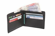 Mens Luxury Soft Quality Leather Wallet Credit Card Holder Purse Black Coffee