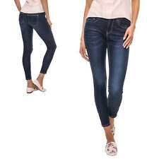 Only Damen Skinny Jeans Denim Stretch 7/8 Hose Damenhose Used Look Dark Wash %
