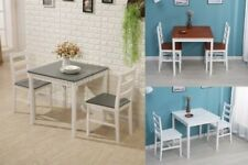 WestWood Solid Pine Wood Dining Table With 2 Chairs Set Kitchen Home Furniture