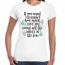 VUOI Know How VARIE I LOVE YOU pezzi The Waves donna t shirt - VALENTINO REGALO