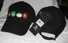 SOUTH PARK CARTMAN, KYLE, KENNY, STAN COMEDY CENTRAL ADJUSTABLE SLOUCH CAP NWT