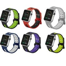 Replacement Silicone Sports Strap For Apple Watch Band Series 3 / Series 2/1