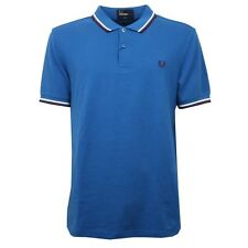 C6640 polo uomo FRED PERRY blu maglia slim fit t-shirt polo men