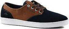 EMERICA ROMERO LACED NAVY BROWN WHITE - UK 8 9 - SKATEBOARD NEW SKATE SHOES SALE