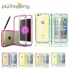 Cover Trasparente Morbida in Silicone per iPhone 6 6S Apple Custodia  TPU Colori