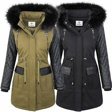 Only winterjacke jane canvas parka schwarz