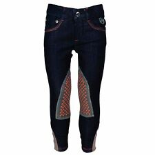 HKM Sweetheart Denim Alos Womens Jumping Outdoor Knee Patch Jean Style Breeches