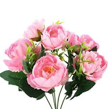Soledi Artificial Silk Fake 5 Heads Peony Flower Bunch Bouquet for Home Hotel
