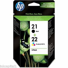 HP No 21 & 22 Black & COLOR ORIGINAL OEM Cartuchos C9351AE C9352AE Deskjet