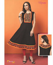 Kurtis for women - Embroidery Cotton Kurti Casual Wear Anarkali Kurti Kurta
