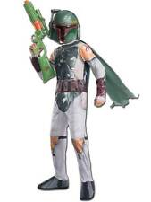 Boba Fett Boys Fancy Dress Star Wars Movie Villain Childrens Kids Costume Outfit