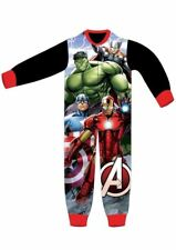 Boys Kids Avengers Soft Jumpsuit Pyjamas Character Childrens Nightwear Pajama