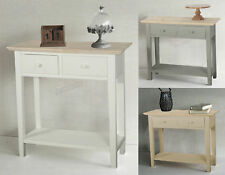FoxHunter Console Table 2 Drawers Wood Hallway Side Storage Hall Kitchen CTW01