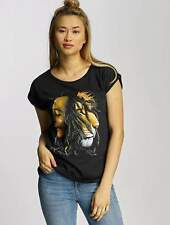 Mister Tee Donne Maglieria / T-shirt Ladies Bob Marley Lion Face