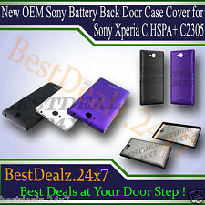 New OEM Sony Battery Back Door Case Cover for Sony Xperia C HSPA+ C2305