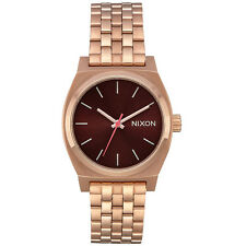 Nixon Herren Uhr Medium Time Teller - All Rose Gold / Brow
