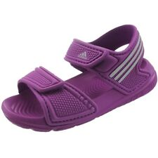 7c3a12a5eec Adidas Akwah 9 unisex kids slides pink white bathing sandals beach pool NEW