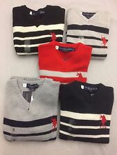 New - US Polo Assn Kids V Neck Jumpers