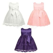 Kids Baby Flower Girls Princess Wedding Christening Communion Party Dress Gown