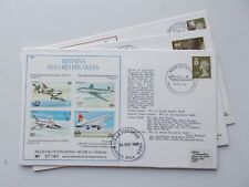 Royal Air Force Flown Covers. MS Series, unsigned. Each sold separately.