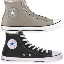 Converse Chuck Taylor All Star Hi Leather Scarpe Sneaker DONNA UOMO PELLE NUOVO
