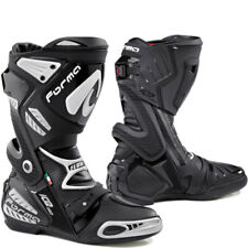 FORMA ICE PRO FLOW BLACK VENTED MOTORCYCLE MOTORBIKE SPORTS RACING RACE BOOTS