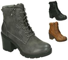 LADIES WOMENS COMBAT ARMY MILITARY BIKER ZIP LACE UP WORKER ANKLE BOOTS SIZE