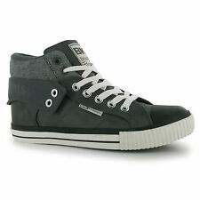 British Knights Roco Fold Trainers Mens Dark Grey/Black Casual Sneakers Shoes