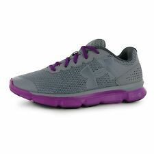 Under Armour Micro G Speed Swift Running Shoes Womens Gry/Purp Trainers Sneakers