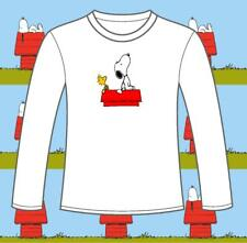 "Long Sleeved Snoopy & Woodstock ""SKYWATCHING"" t-shirts. 3clrs. FREEPOST peanuts"