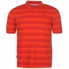 Slazenger Pique Yarn Dyed Polo Shirt Mens Red Collared T-Shirt Top Sportswear