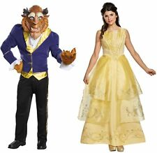 Belle and Beast Adult Couples Costumes Disney Beauty and the Beast Halloween