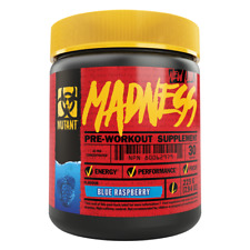 Mutant Madness 225 Gram Pre-Workout CRAZY NEW FORMULA  30 Servings