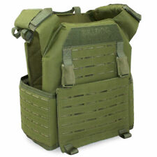 Bulldog Kinetic Military Army Tactical Airsoft MOLLE Armour Plate Carrier Green