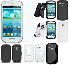 AMZER Snap on Hard Shell Holster Hybrid Case Screen For GALAXY S3 mini GT-I8190