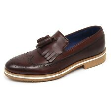 C7804 mocassino uomo CARACCIOLO 1971 VENICE scarpa marrone loafer shoe man