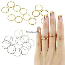 12PCS/Set Rings Urban Gold Stack Plain Cute Above Knuckle Ring Band Midi C5